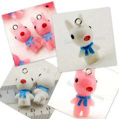 Cabochon Resin Dog with Eye Bolt