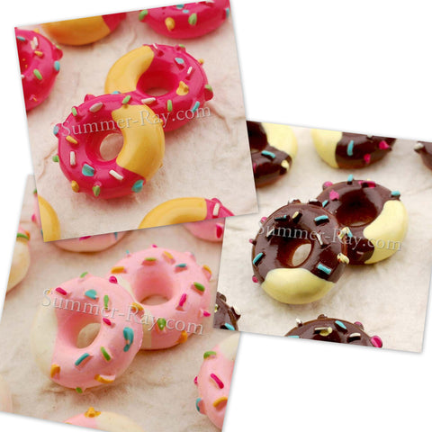 Cabochon Resin Icing and Cream Donuts