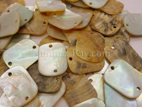 Seashell Buttons - Rectangle 50 pieces