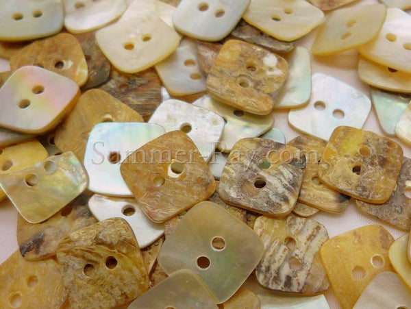 Seashell Buttons - Square 50 pieces