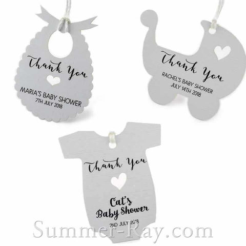 Summer online supplies store for craft scrapbooking weddings and parties - Baby shower favor tags ...
