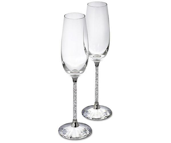 Swarovski Crystalline Toasting Flutes, Set of 2