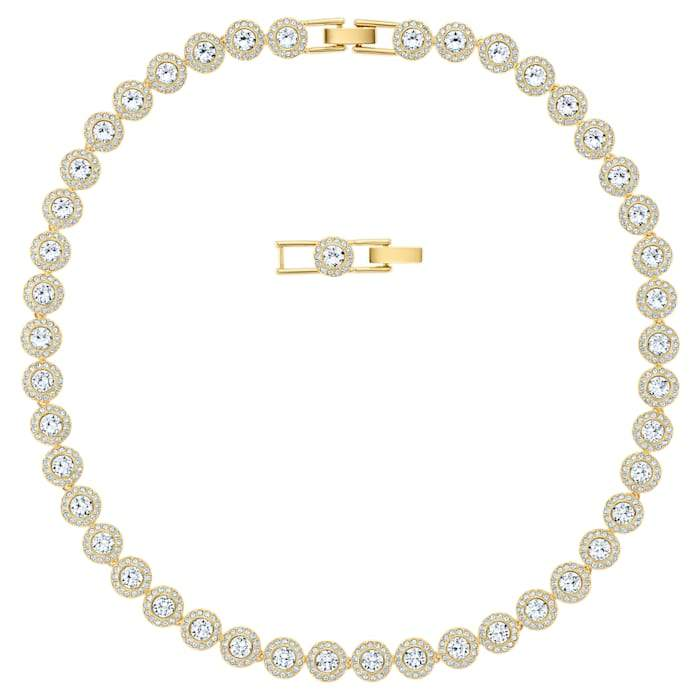 Swarovski Angelic Necklace, White, Gold-tone plated, 5505468
