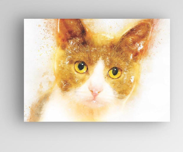 "Woolly Mammoth Media 30x20"" Canvas Cheeto the Cat Kitten Wall Art Print 