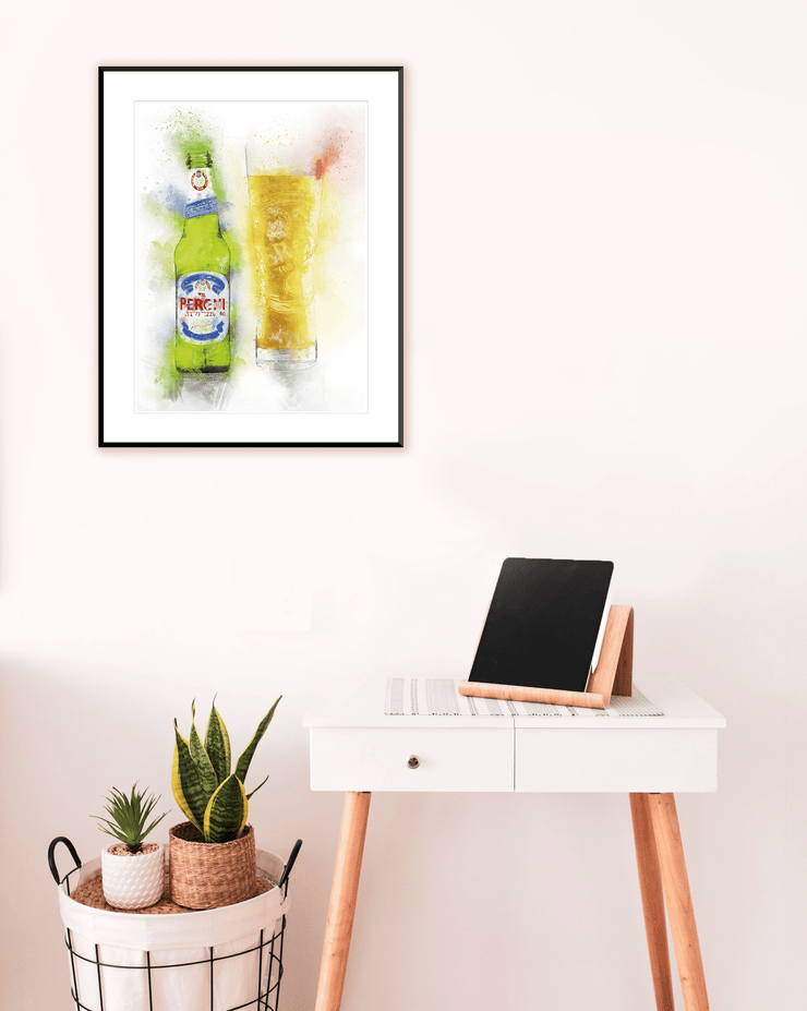 Woolly Mammoth Media Beer Bottle Wall Art Print