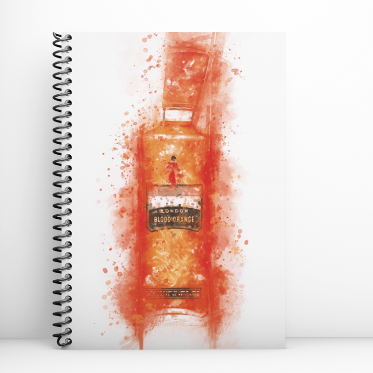 Woolly Mammoth Media Blood Orange Gin Bottle Notebook