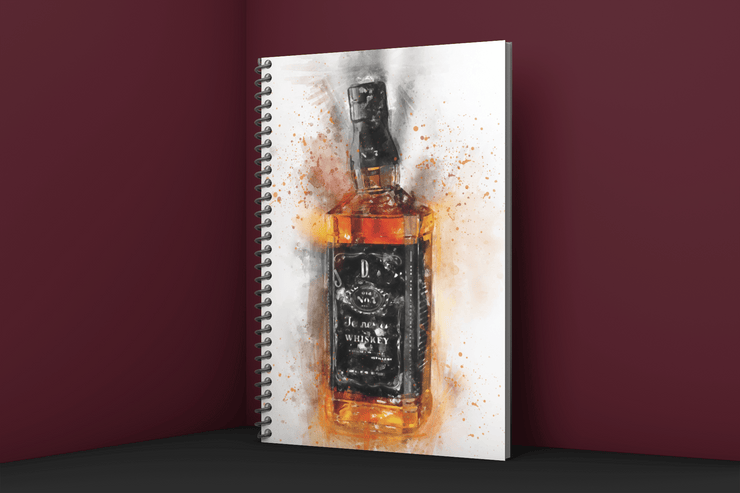 Woolly Mammoth Media Bourbon Bottle Art Notebook