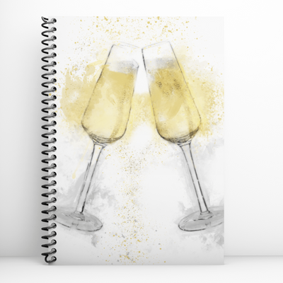 Woolly Mammoth Media Champagne Flutes Notebook
