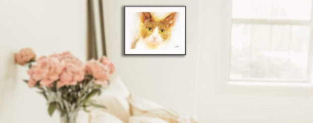 Woolly Mammoth Media Cheeto the Cat Kitten Wall Art Print | Animal Artwork