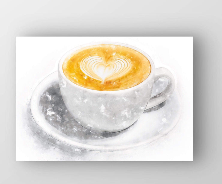 Woolly Mammoth Media Coffee Love Wall Art Print | Flat White Latte