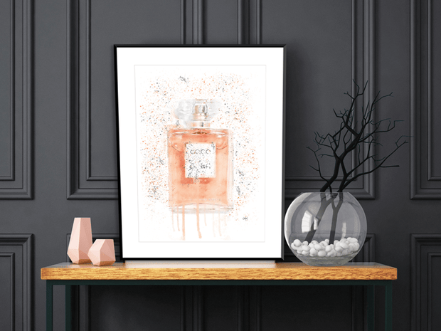 Woolly Mammoth Media Coral Eau De Parfum Perfume Bottle Wall interior Art Print