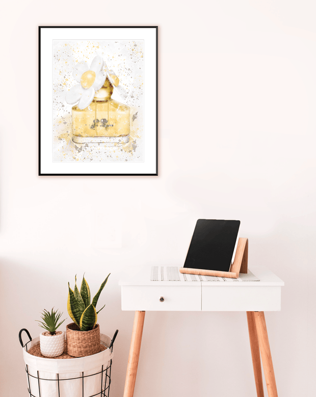 Woolly Mammoth Media Daisy Perfume Wall Art Print