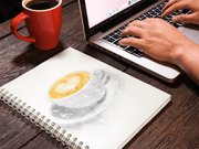 Woolly Mammoth Media Flat White Coffee Art Notebook