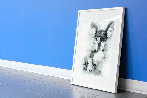 Woolly Mammoth Media French Bulldog Wall Art Print Frenchie