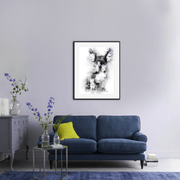 Woolly Mammoth Media Frenchie the French Bulldog Dog Wall Art