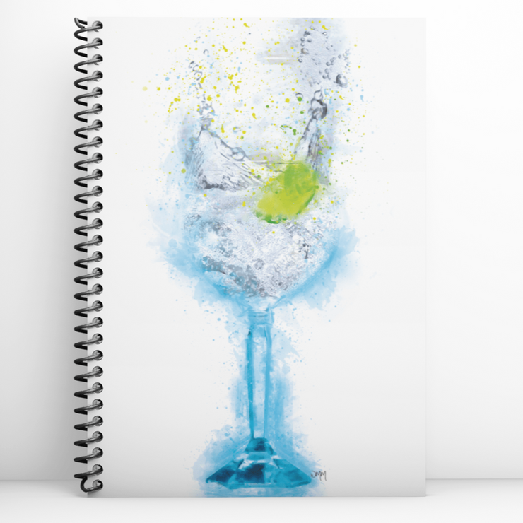 Woolly Mammoth Media Gin and Tonic Glass Notebook
