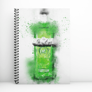 Woolly Mammoth Media Green Gin Bottle Art Notebook