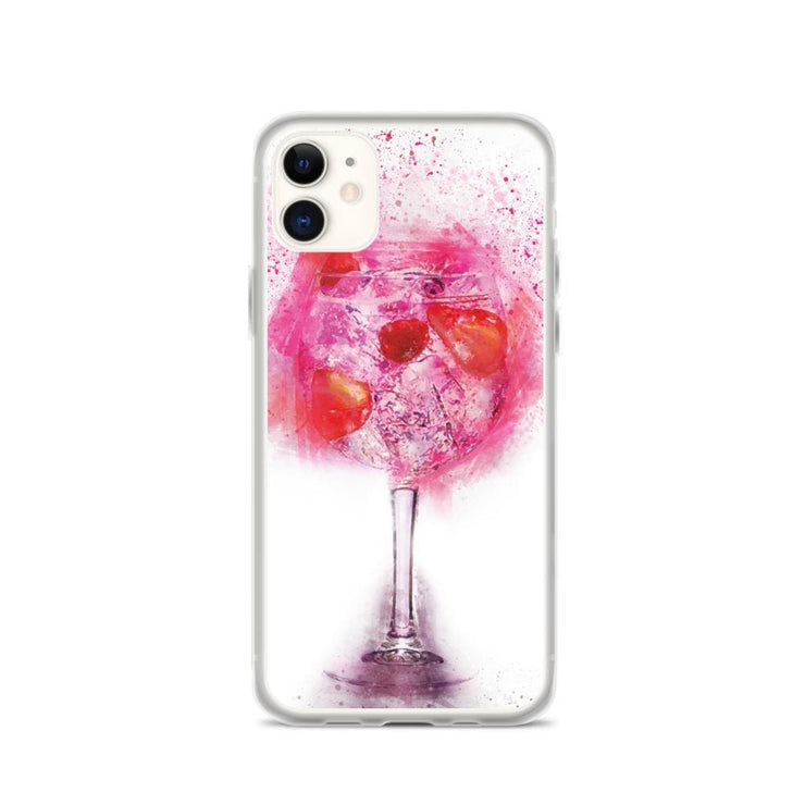 Woolly Mammoth Media iPhone 11 Pink Gin Glass iPhone Case