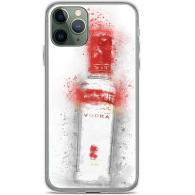 Woolly Mammoth Media iPhone 11 Pro iPhone Vodka Bottle Splatter Splash Case Cover
