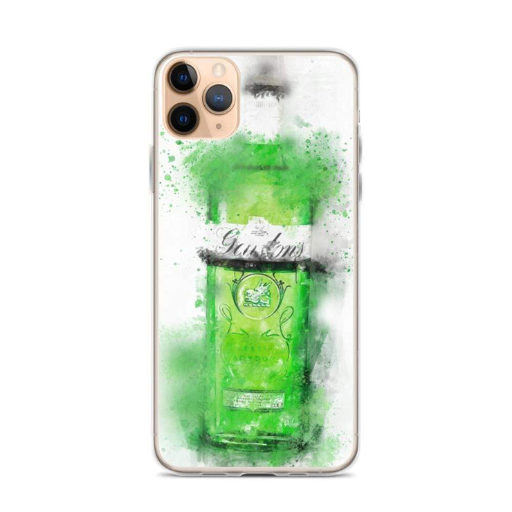 Woolly Mammoth Media iPhone 11 Pro Max Green Gordons Gin iPhone Case