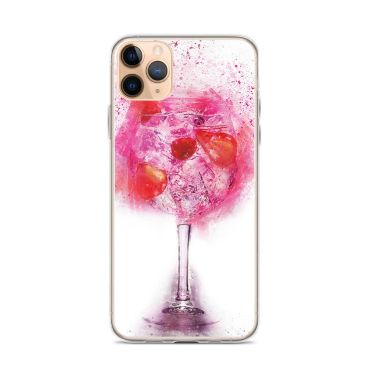 Woolly Mammoth Media iPhone 11 Pro Max Pink Gin Glass iPhone Case