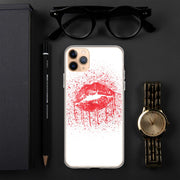 Woolly Mammoth Media iPhone 11 Pro Max Red Lips Splatter Lipstick iPhone Case Cover