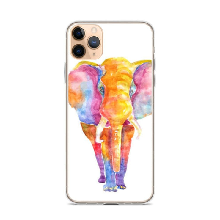 Woolly Mammoth Media iPhone 11 Pro Max Vibrant Elephant colourful Art iPhone Case Cover Animal Wildlife