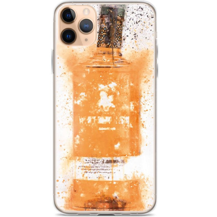 Woolly Mammoth Media iPhone 11 Pro Max Zesty Orange Gin Bottle Splatter Art iPhone Case