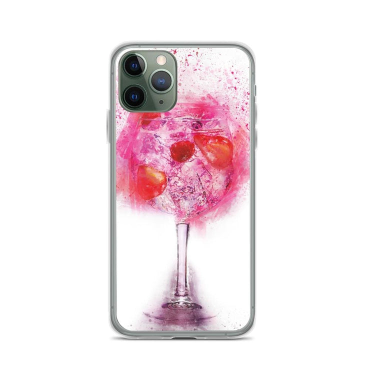 Woolly Mammoth Media iPhone 11 Pro Pink Gin Glass iPhone Case