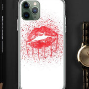 Woolly Mammoth Media iPhone 11 Pro Red Lips Splatter Lipstick iPhone Case Cover