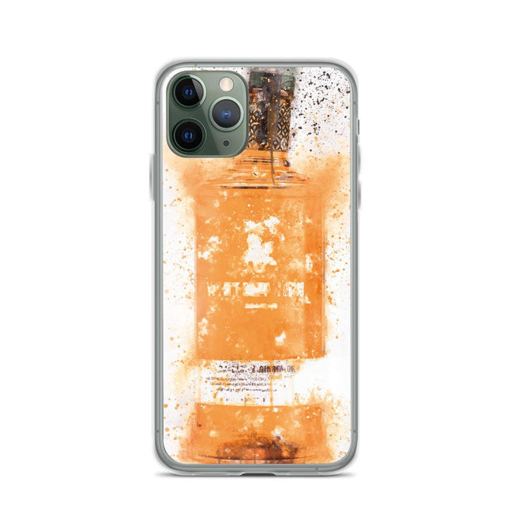Woolly Mammoth Media iPhone 11 Pro Zesty Orange Gin Bottle Splatter Art iPhone Case