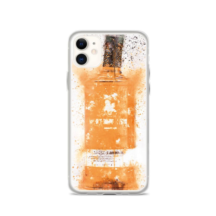 Woolly Mammoth Media iPhone 11 Zesty Orange Gin Bottle Splatter Art iPhone Case