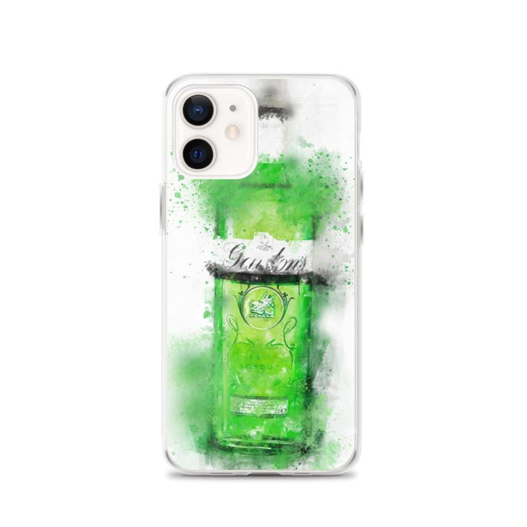Woolly Mammoth Media iPhone 12 Green Gordons Gin iPhone Case