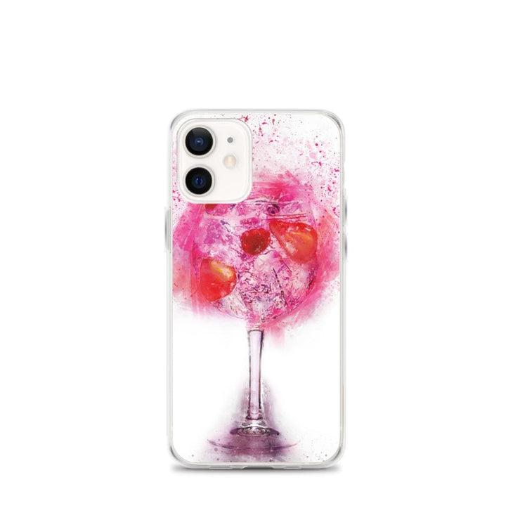 Woolly Mammoth Media iPhone 12 mini Pink Gin Glass iPhone Case