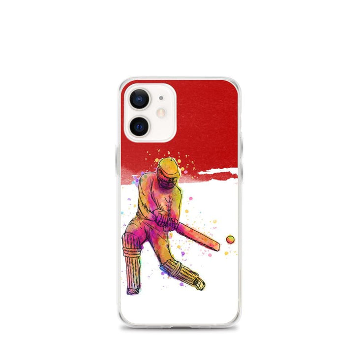 Woolly Mammoth Media iPhone 12 mini Red Cricket iPhone Case Cover