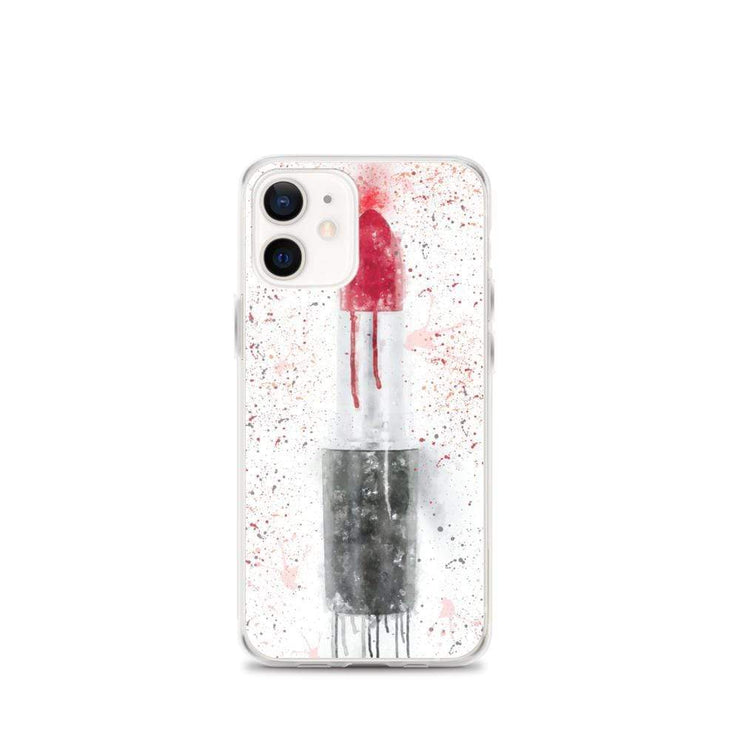 Woolly Mammoth Media iPhone 12 mini Red Lipstick Art iPhone Case Cover
