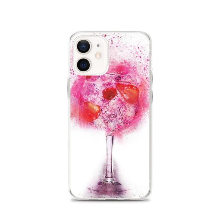Woolly Mammoth Media iPhone 12 Pink Gin Glass iPhone Case