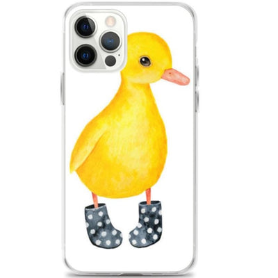Woolly Mammoth Media iPhone 12 Pro Cute Duckling in Wellies iPhone Case | Art Cover