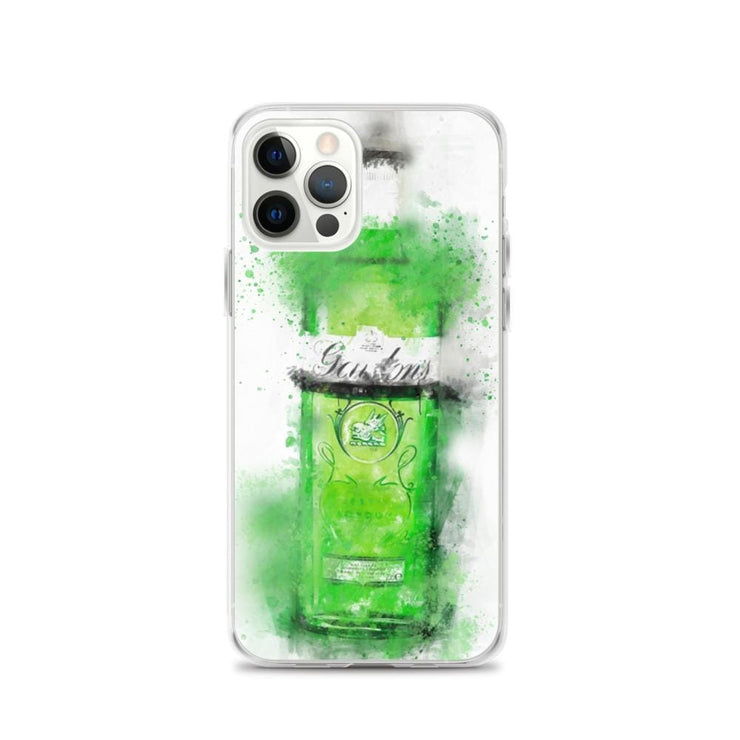 Woolly Mammoth Media iPhone 12 Pro Green Gordons Gin iPhone Case