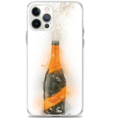 Woolly Mammoth Media iPhone 12 Pro iPhone Prosecco Bottle Splatter Art Case Cover