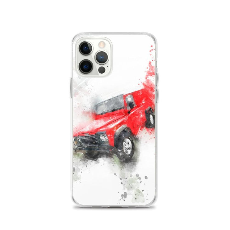 Woolly Mammoth Media iPhone 12 Pro Land Rover Defender iPhone Case Cover