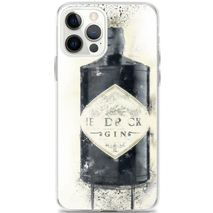 Woolly Mammoth Media iPhone 12 Pro Max Black Gin Bottle iPhone Case - Hendricks Inspired