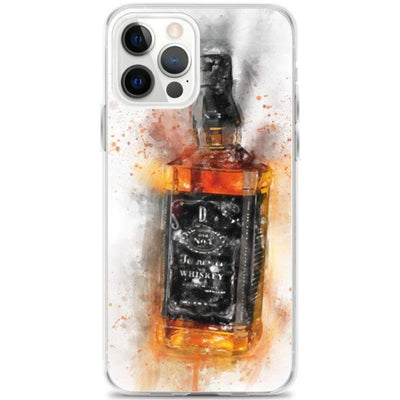 Woolly Mammoth Media iPhone 12 Pro Max Bourbon Whiskey Bottle iPhone Case