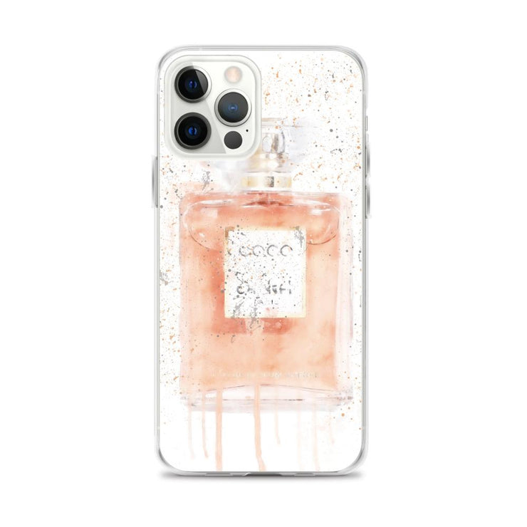 Woolly Mammoth Media iPhone 12 Pro Max Coral Perfume Bottle iPhone Case