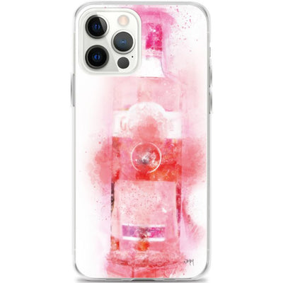Woolly Mammoth Media iPhone 12 Pro Max iPhone Pink Gin splatter art Mobile Phone Case cover