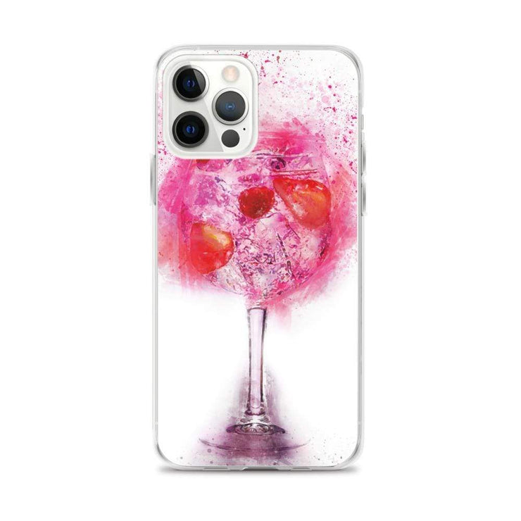 Woolly Mammoth Media iPhone 12 Pro Max Pink Gin Glass iPhone Case