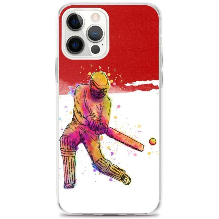 Woolly Mammoth Media iPhone 12 Pro Max Red Cricket iPhone Case Cover
