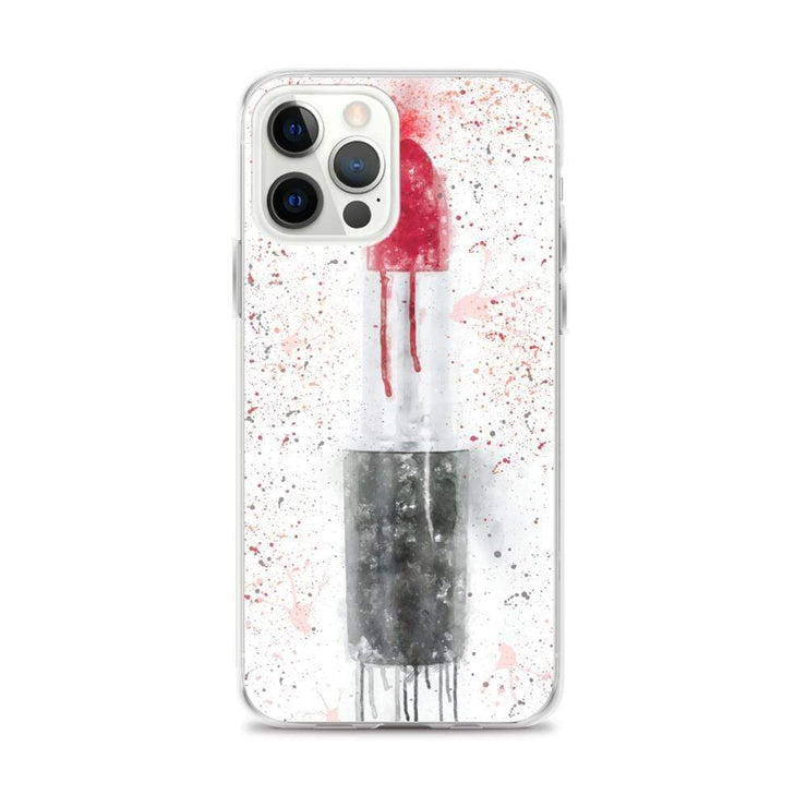 Woolly Mammoth Media iPhone 12 Pro Max Red Lipstick Art iPhone Case Cover