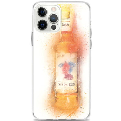 Woolly Mammoth Media iPhone 12 Pro Max Spiced Rum Bottle iPhone Case Cover