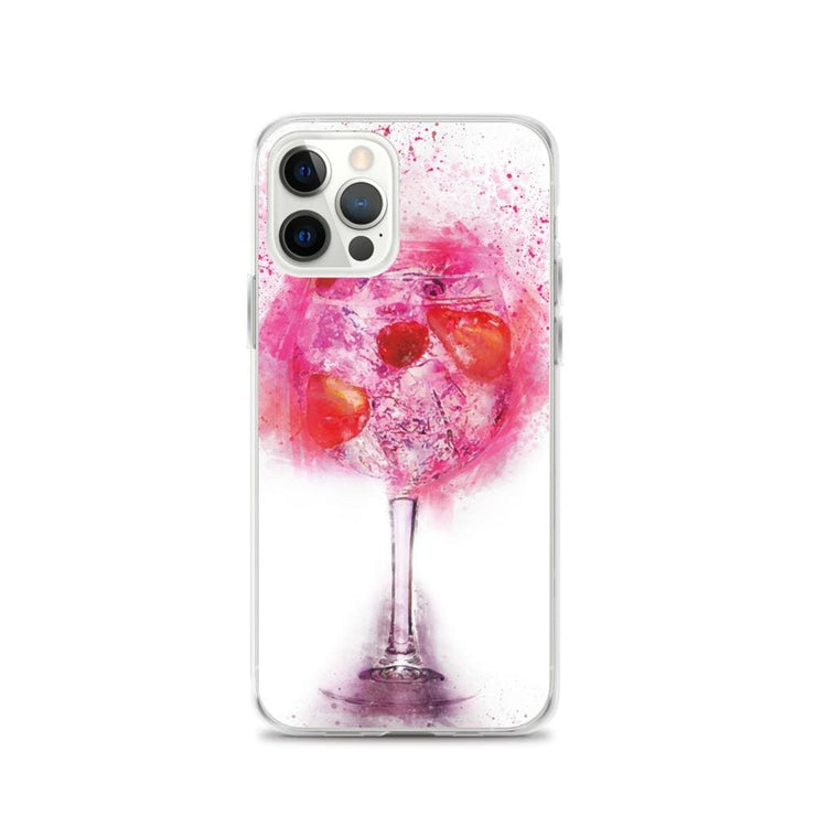Woolly Mammoth Media iPhone 12 Pro Pink Gin Glass iPhone Case